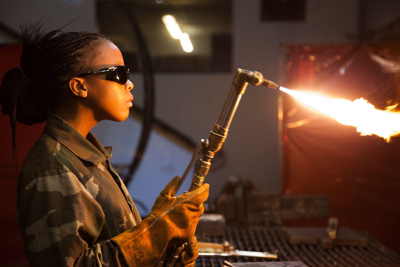 Crucible Girl Welding Torch