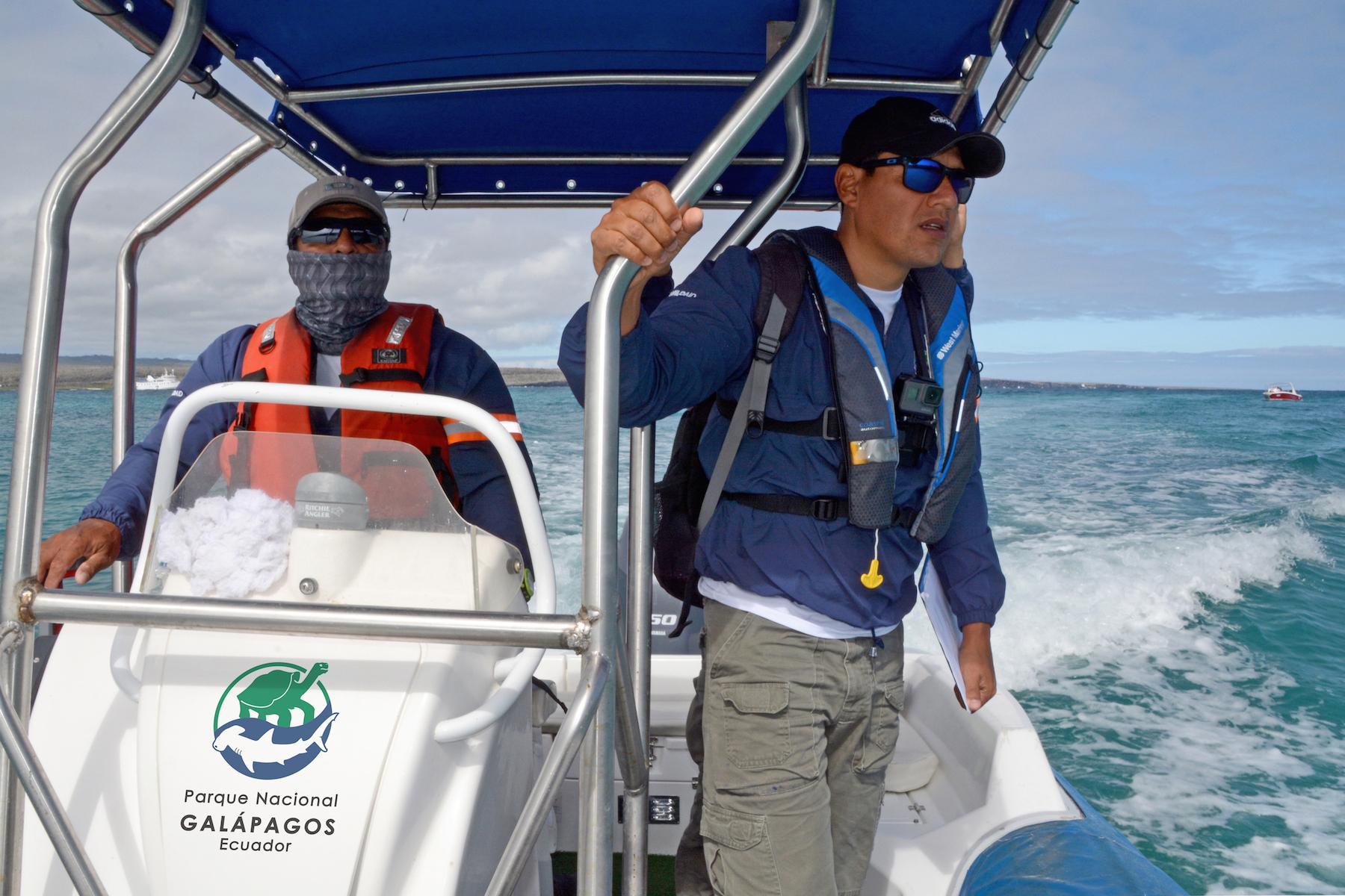 Galapagos Officials Patrolling