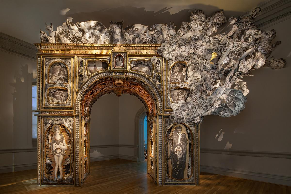 Garlington And Bertotti Paper Arch 2018 Renwick Gallery Photo By Ron Blunt