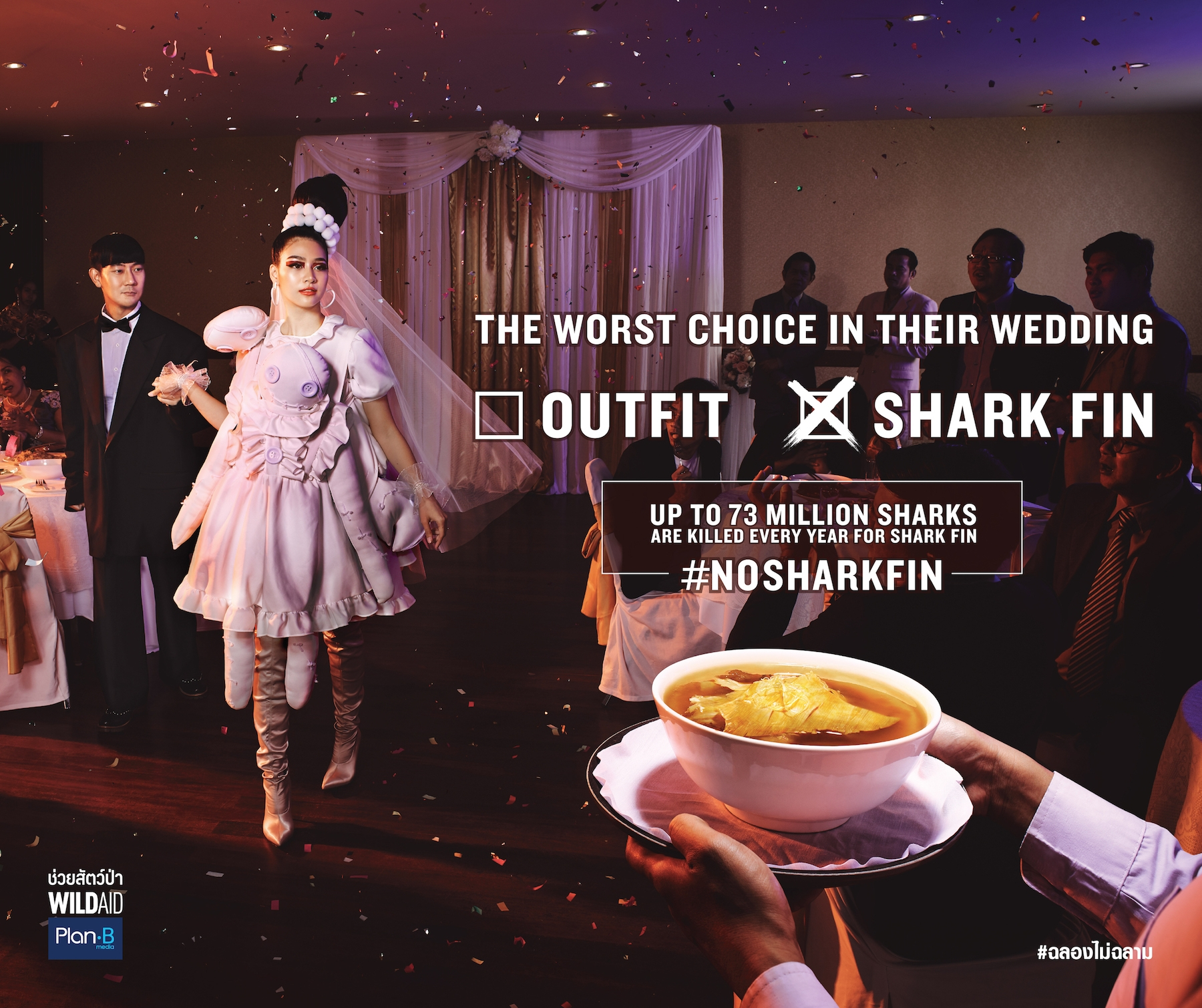 Shark Fin Soup Weddings Thailand © Wild Aid